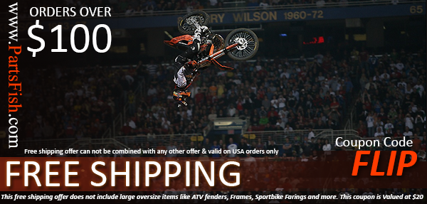 GET FREE SHIPPING on orders over $100 - Valued at $20 for Motorcycle parts specials
