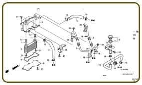 2009 Honda Bigred MUV700 Utility vehicle OEM parts